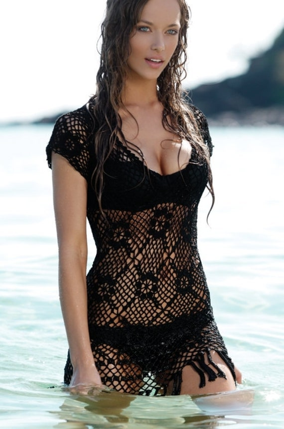Lace Beach Dress / swimwear cover up / Hot Miami Style / Made to Order