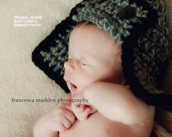 Flyer Aviator Hat Newborn Baby Photo prop Gray Black Available more colors  Photography Pilot Hat all babies Infant Girl Boy Photo Shoot