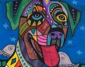 60% Off- Catahoula Leopard Dog Art Angel Art  Art Print Poster by Heather Galler (HG276)