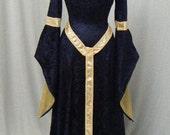 ELVEN DRESS, medieval dress, renaissance dress,  fairy dress, gothic dress, reniassance faire costume, custom made
