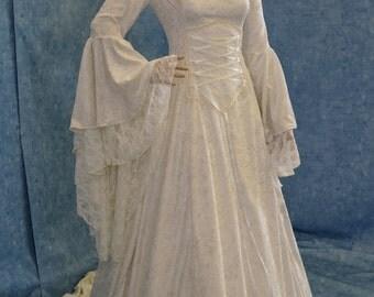 Renaissance dress, medieval dress, handfasting gown, wedding dress, elven dress, fairy dress, custom made