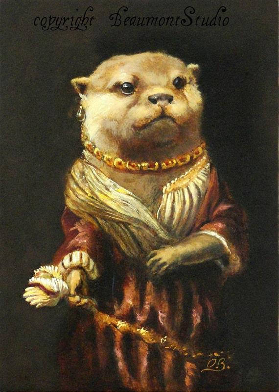 Otter Art - Saskia- (canvas print)