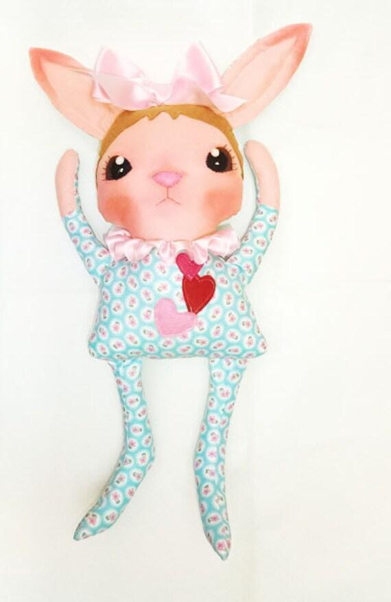 "Instant Digital Download--Art Doll Pattern PDF DIY "" Bunny "" sewing"