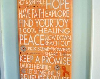 Keep the Faith, Smile Often, Celebrate LIfe Gallery Mount Canvas 8x20 Word Art Print - wellness love cancer