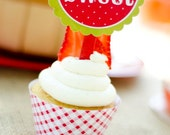 Strawberry Party PRINTABLE Party Circles by Love The Day