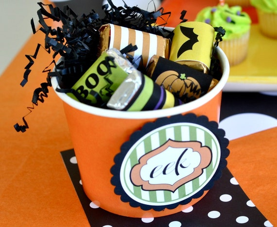 Halloween PRINTABLE Party Mini Candy Bar Wrappers (INSTANT DOWNLOAD) by Love The Day