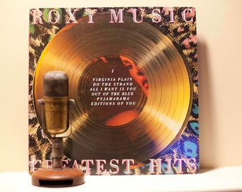 """ON SALE Roxy Music (with Bryan Ferry) Vinyl Record Album 1970s Glam Rock and Roll Pop """"Greatest Hits"""" (Original 1977 Atlantic w/""""Love is the"""