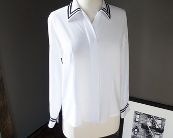 Sunshine coast... Vintage nautical influenced blouse