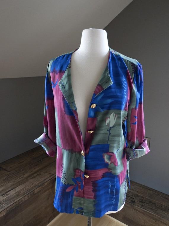 SALE SALE...Dreams... vintage circa 1980s oversized blazer/top (s - m - l)