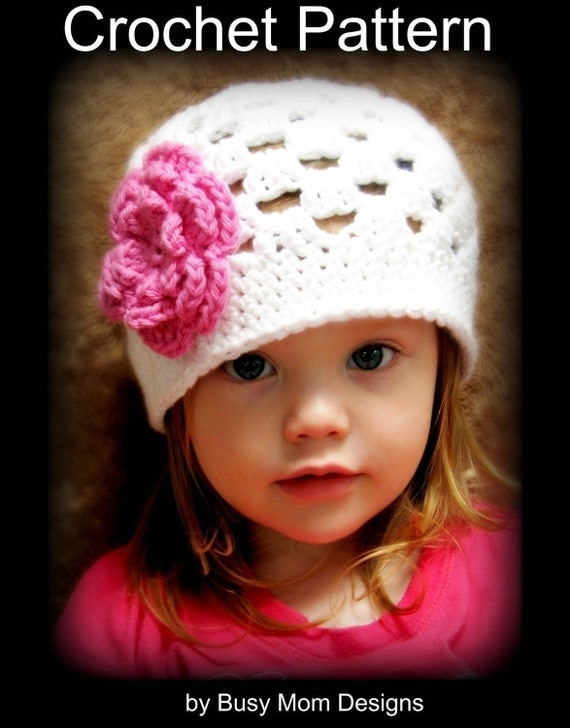 CROCHET Hat PATTERN - Spring Fling Beanie - Quick and Easy - All sizes included - PDF 101 - Sell what you Make