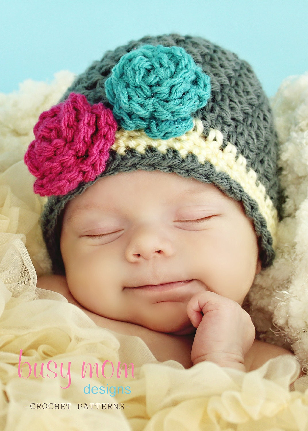 crochet hat pattern the bella rose beanie sizes from. Black Bedroom Furniture Sets. Home Design Ideas