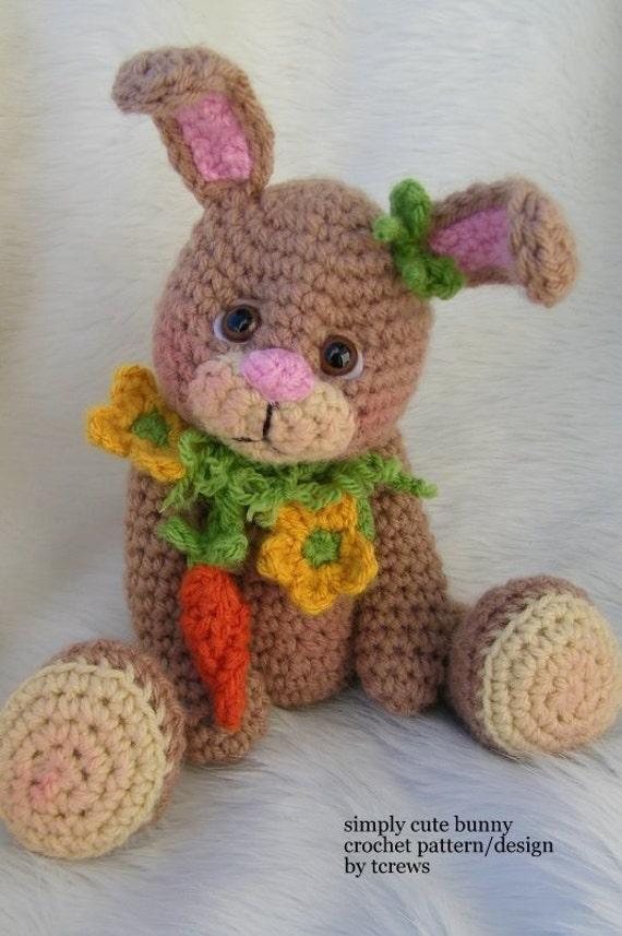 Crochet Pattern Bunny by Teri Crews instant download PDF format