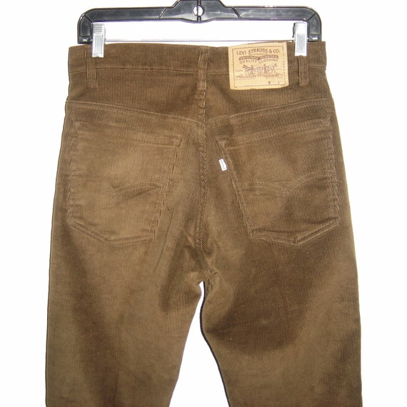 Vintage LEVIu0026#39;S LEVIS 517 Slim Fit Bootcut Brown Corduroy