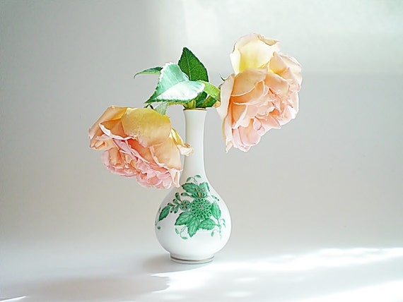 Miniature Bud Vase Herend Hungary Porcelain Bud Vase Cabinet Vase