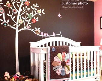 Tree Decal - Bird Tree Wall Decal - Vinyl Wall Stickers - Modern Wall Decal - Children Wall Stickers - Modern Nursery Decor - 0049