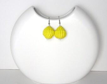 Lemon Yellow: Statement Earrings  - Lemon Yellow Balls