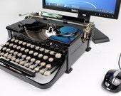 USB Typewriter Computer Keyboard -- Black Royal Portable