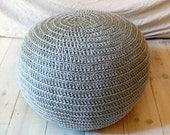 Pouf Crochet  big - Gray