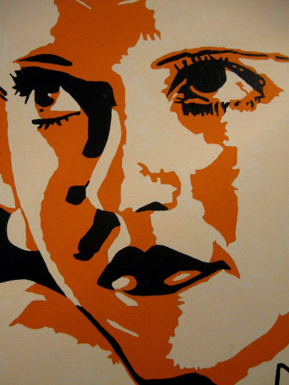 Bette Davis Pop Art Portrait In Orange Artistry To Alchemy