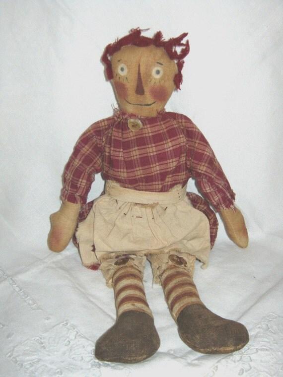 RESERVED/ Raggedy ANN Doll / Artist / Cottage / SALE / By Gatormom13