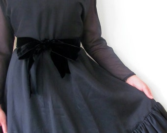 The 1960's Black Sheer Howard Wolf Cocktail Dress