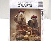 McCalls 3140 - Hen and Chicks - Shelf Sitters - Bowl Fillers - Fabric Art - Softies