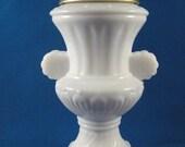 Vintage Avon Bath Urn Milk Glass Decanter