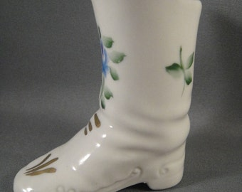 Boot Miniature Porcelain Welsley China Hand Painted