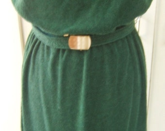 1980'sn Retro-Fabulous Green Strapless Tube Dress Couture Fashion Size M/L