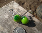 Green Apple Earrings
