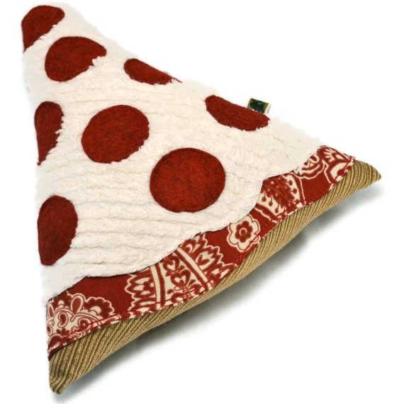 Extra Durable Dog Toy Pepperoni Pizza 'DOUBLE FABRIC LAYER Construction'