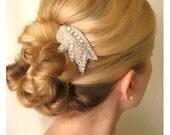 Vintage Inspired rhinestone bridal hair comb, wedding hair comb, wedding hair accessories, bridal comb,bridal headpieces