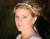 Vintage beaded bridal headband, wedding headband, bohemian bridal headband