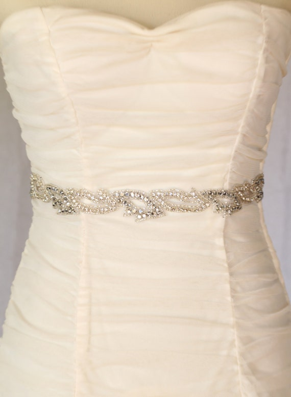 Sophie bridal sash, rhinestone sash, bridal accessories, crystal sash, wedding dress sash