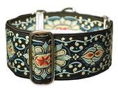 Jewels Jacquard Martingale Collar - 2 Inch - Black, Khaki, Blue, Red