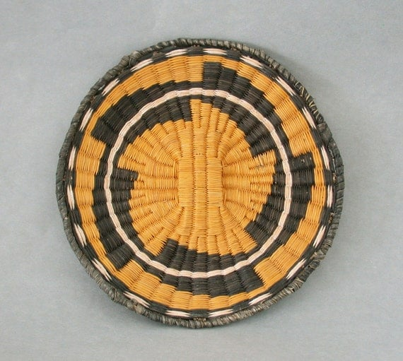 Native American Basket Weaving Kits : Items similar to hopi wicker basket tray weaving inch