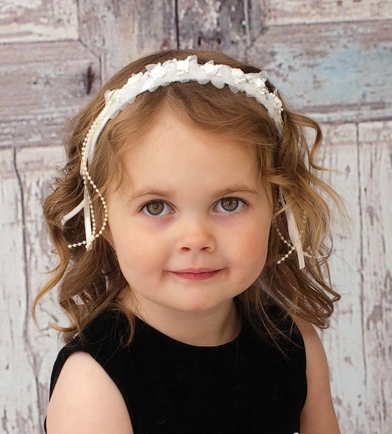 Baby girls headbands flower girl wedding hair accessories on etsy
