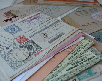 20 OFFICE papers - Assorted vintage EPHEMERA Paper PACK