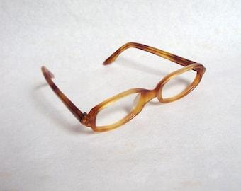 1960s Ginger tortoiseshell spectacle frames / 60s eyeglasses