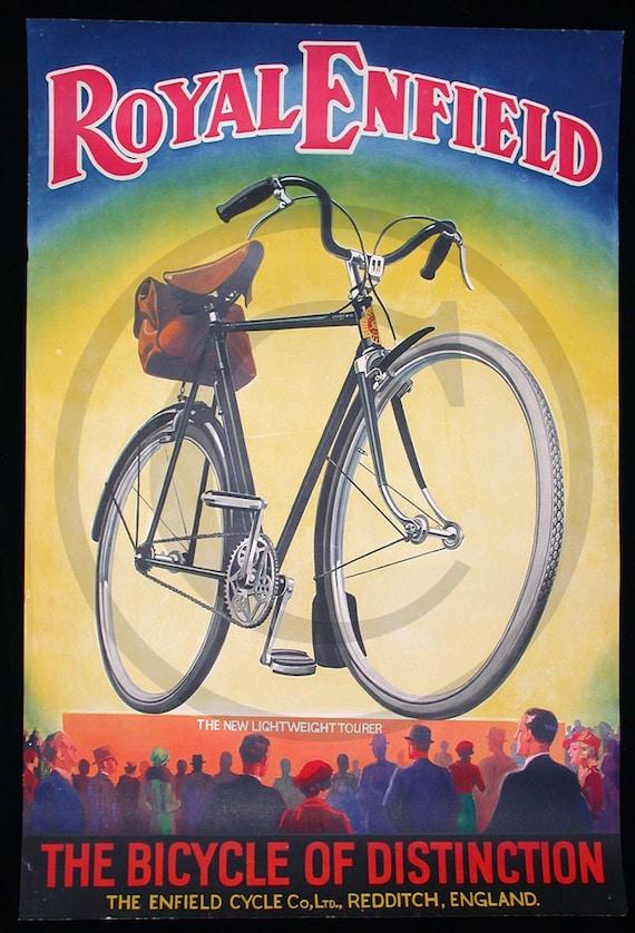 Royal Enfield, Bicycle, Gift, Man, 1930s Print
