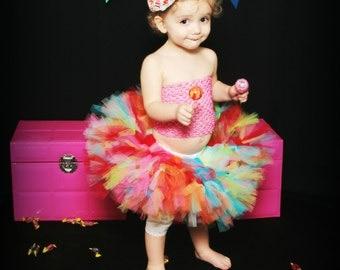 Candy Shoppe Petti Tutu - SEWN petti tutu set - Petti tutu - Candyland Tutu - rainbow tutu - petti tutu
