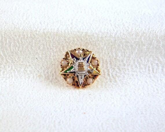 Vintage 10K Gold  Eastern Star Pin OES Brooch