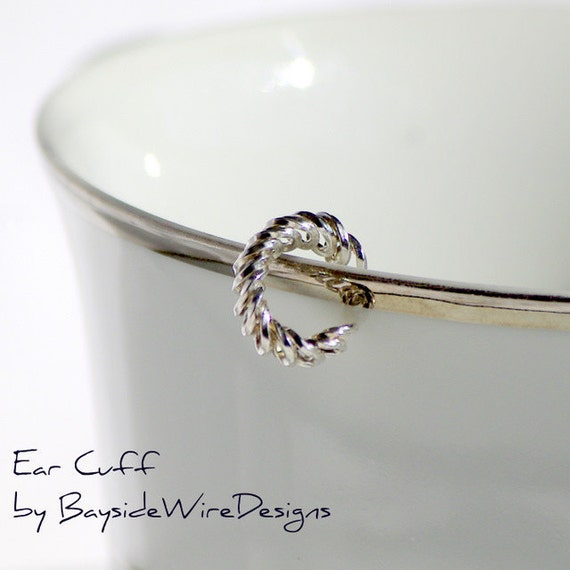 Fun Spring Ear Cuff 925 Sterling Silver Handmade Gift for Her Gift for Teens