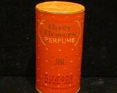 1930's Perfume Box Vintage Perfume Richard Hudnut Three Flowers Perfume Box Art Deco Box VERY RARE