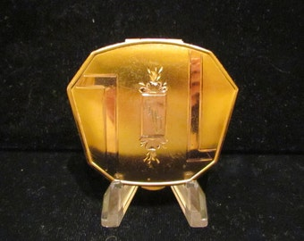 Vintage La Mode Compact Art Deco Compact 1930s Powder Compact Rouge Gold Plated Compact GREAT CONDITION
