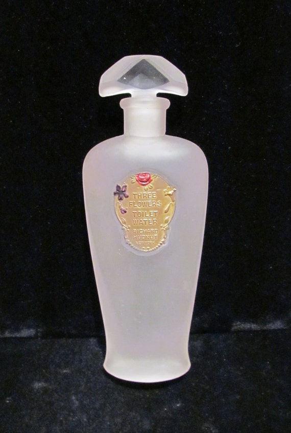Antique Perfume Bottle Vintage Perfume Bottle Richard Hudnut Perfume Bottle Three Flowers Bottle Toilet Water Vintage Bottle Antique Bottle