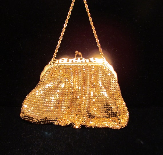 1940s Purse Whiting & Davis Purse Gold Mesh Vintage Purse Evening Purse Wedding Purse Bridal Bag Art Deco Purse EXCELLENT CONDITION