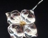 Dogwood Earrings - Sterling Silver and Natural Alaskan Gold Nuggets