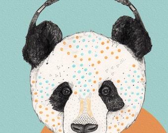 Polkadot Panda  // A4 Print