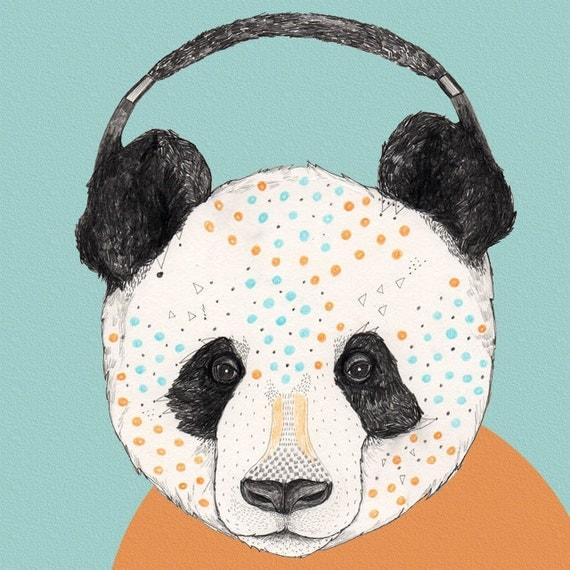 Polkadot Panda  // Signed A4 print